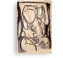 Abstract Nude 3 (paint sketch) Canvas Print