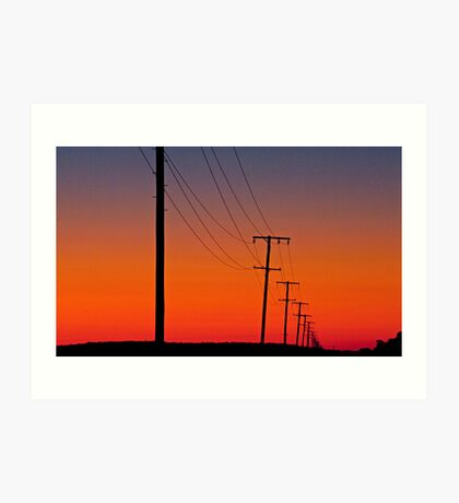 Electric Skies Oakey Qld Australia Art Print