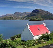 Shieldaig Cottage by Martin Slowey