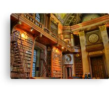 old library, HDR, vienna Canvas Print