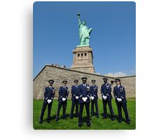 Statue of Liberty with the Air Force Honor Guard Canvas Print