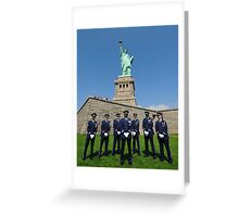 Statue of Liberty with the Air Force Honor Guard Greeting Card