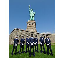 Statue of Liberty with the Air Force Honor Guard Photographic Print