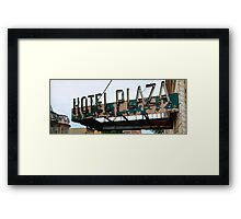 Hotel Plaza Framed Print