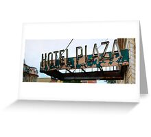 Hotel Plaza Greeting Card