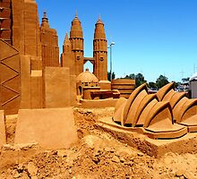 Golden sand architecture by Janette Anderson