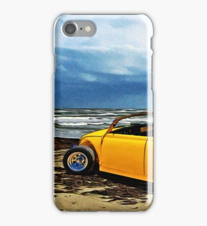 VW Roadster at the Beach on Padre Island with VivaChas iPhone Case/Skin