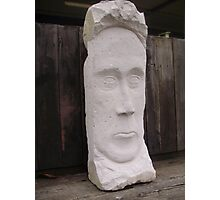 Stone Faced Photographic Print