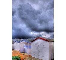 Beach Huts - Shoreham Beach - West Sussex - HDR Photographic Print