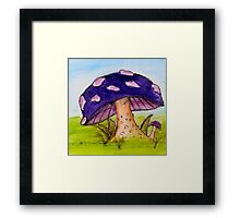 Beneath the toadstool Framed Print