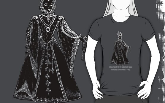 Elisabeth I Tudor t-shirt design Ladies Only! by patjila