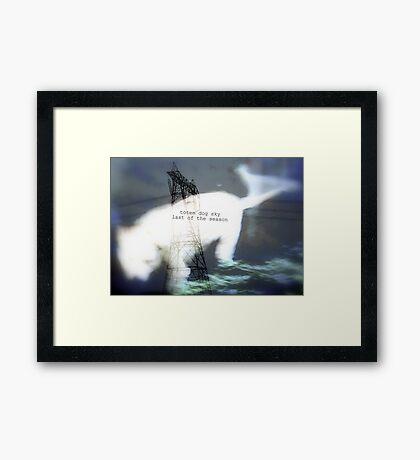 totem dog sky last of season Framed Print