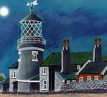 Lighthouses, Wales by Dorian Spencer Davies by Dorian Davies