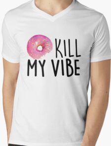 Donut Kill My Vibe Mens V-Neck T-Shirt