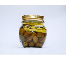 Jar of Home Made Lemon Olives  Photographic Print