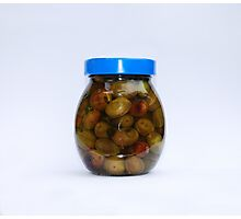 Jar of Home Made Olives  Photographic Print
