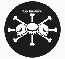 Black Beard Pirates Logo Sticker by zeroheroes