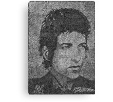 Bob Dylan - Singer, songwriter, poet.   (2002) Canvas Print