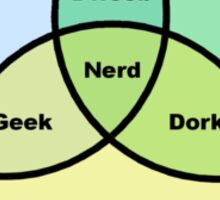 Nerd Venn Diagram Sticker
