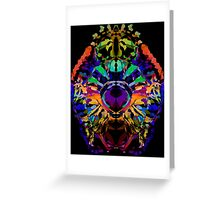 Abstract Colorful Jewel Lion for the Leo Sign Greeting Card