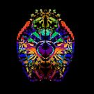 Abstract Colorful Jewel Lion for the Leo Sign by Kari Sutyla