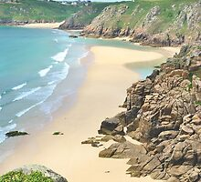 Pednvounder Beach from Logans Rock by Blagnys