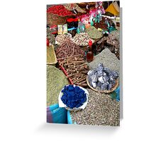 Spice Market. Greeting Card