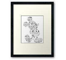 Mickey Mouse Comic edit Framed Print