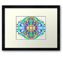Abstract Psychedelic Gem  Framed Print
