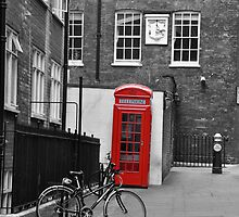 Phone box  and Bike by milesphotos
