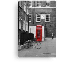 Phone box  and Bike Canvas Print
