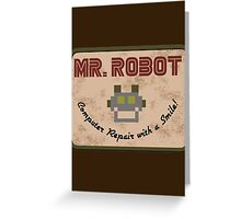 Mr. Robot Patch Greeting Card