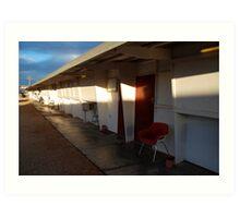 Retro Motel, Nullarbor Plain Art Print