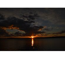Radiant Sunset Over the Boundary Waters Photographic Print
