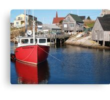 Peggy's Cove Fishing Village Canvas Print