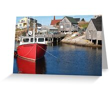Peggy's Cove Fishing Village Greeting Card
