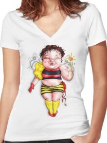 Bumble Fairy Women's Fitted V-Neck T-Shirt