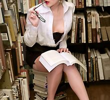 Flirty Pinup Librarian by Max Johnson