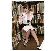 Flirty Pinup Librarian Poster