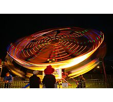 Spinning lights, Albany Show Photographic Print