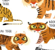 Tigers of the World Sticker
