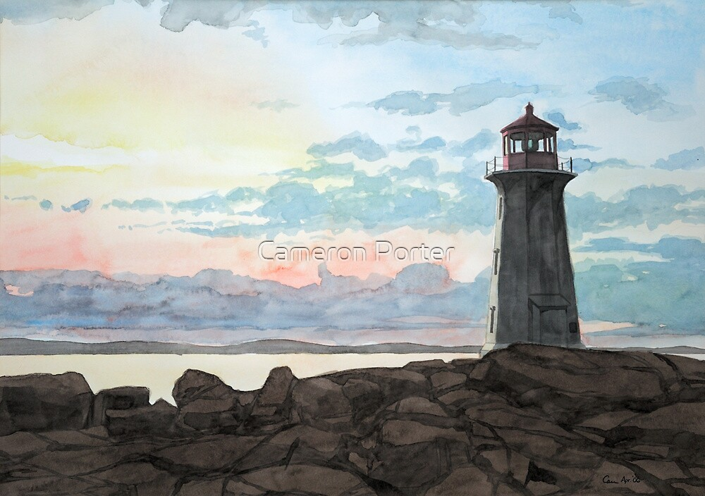 Peggy's Cove Lighthouse by Cameron Porter