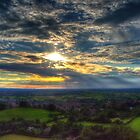 Glastonbury Tor Sunset by Nigel Bangert