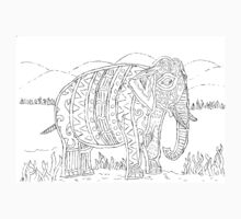 Tribal Elephant with background Kids Clothes
