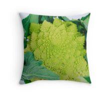 Green Romanesco  Throw Pillow