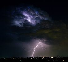Lightning Thunderhead Storm Cell 08-15-2010 by Bo Insogna