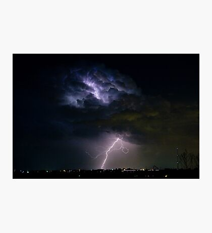 Lightning Thunderhead Storm Cell 08-15-2010 Photographic Print