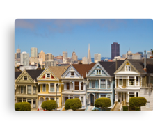 The Painted Ladies in San Francisco, CA Canvas Print