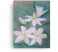 A Lesson in Lilies Canvas Print