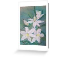 A Lesson in Lilies Greeting Card